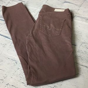 Women's AG Stilt Cigarette Leg Mauve Pants